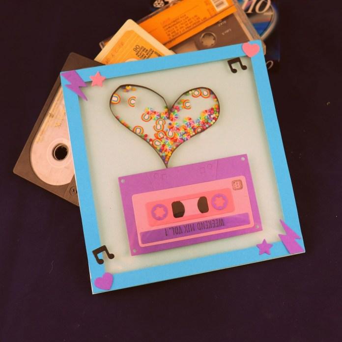 vintage cassette card DIY