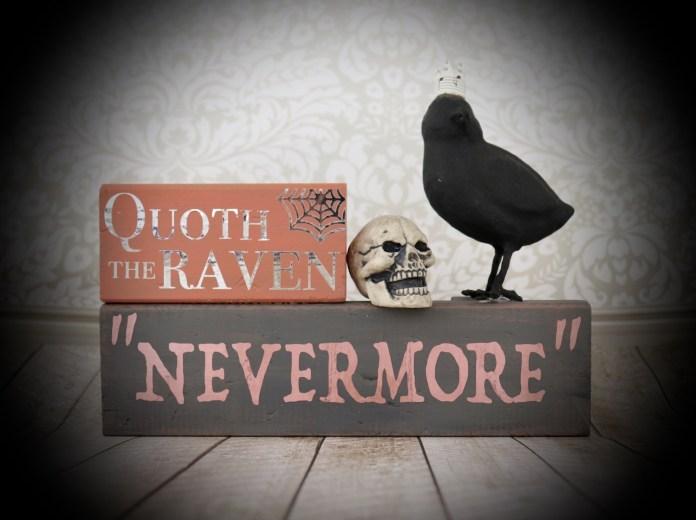 raven Nevermore Edgar Allen Poe decor