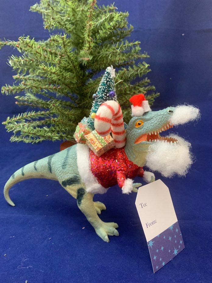 dinosaur santa