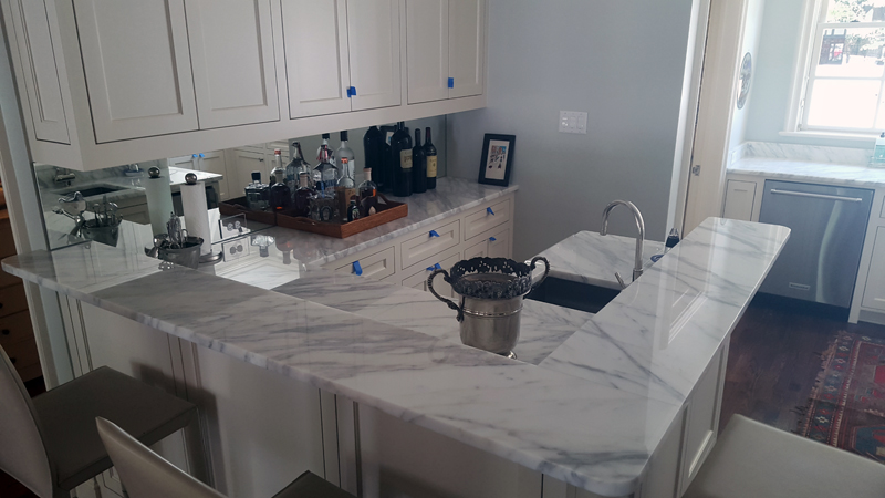 white granite kitchen countertops canisters add carrera marble to your