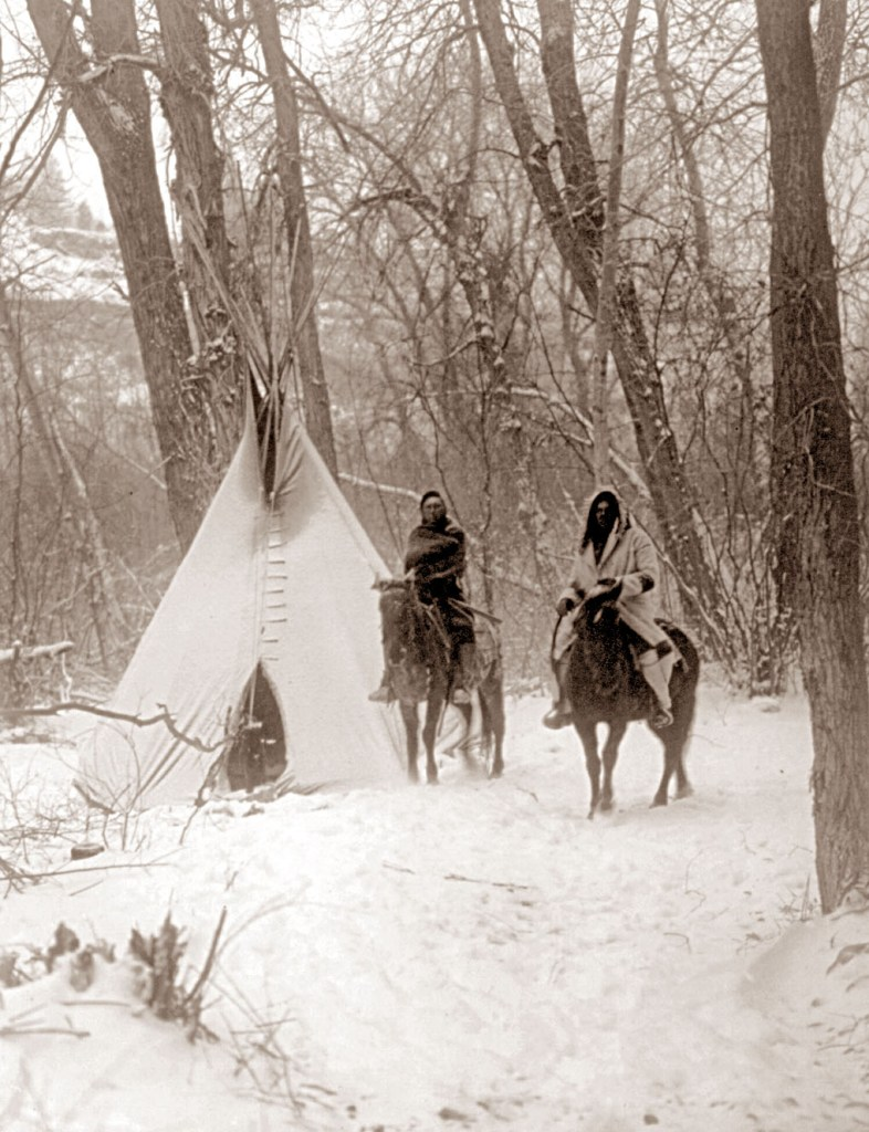 winter-camp tipi