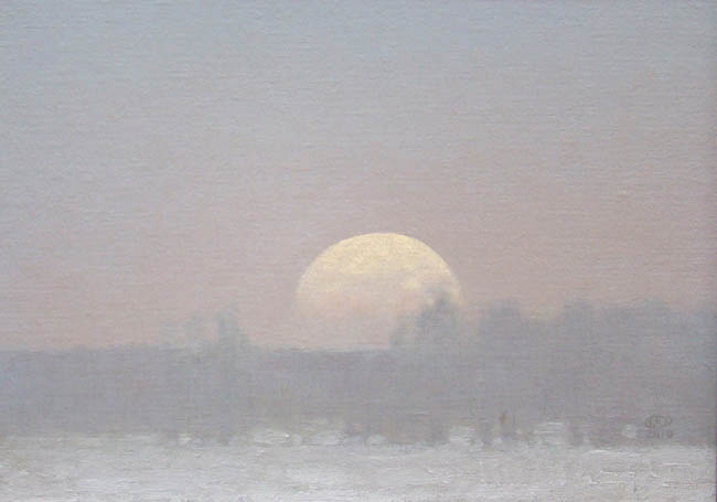 Chatham - Winter Moonrise 12x16 Frameless