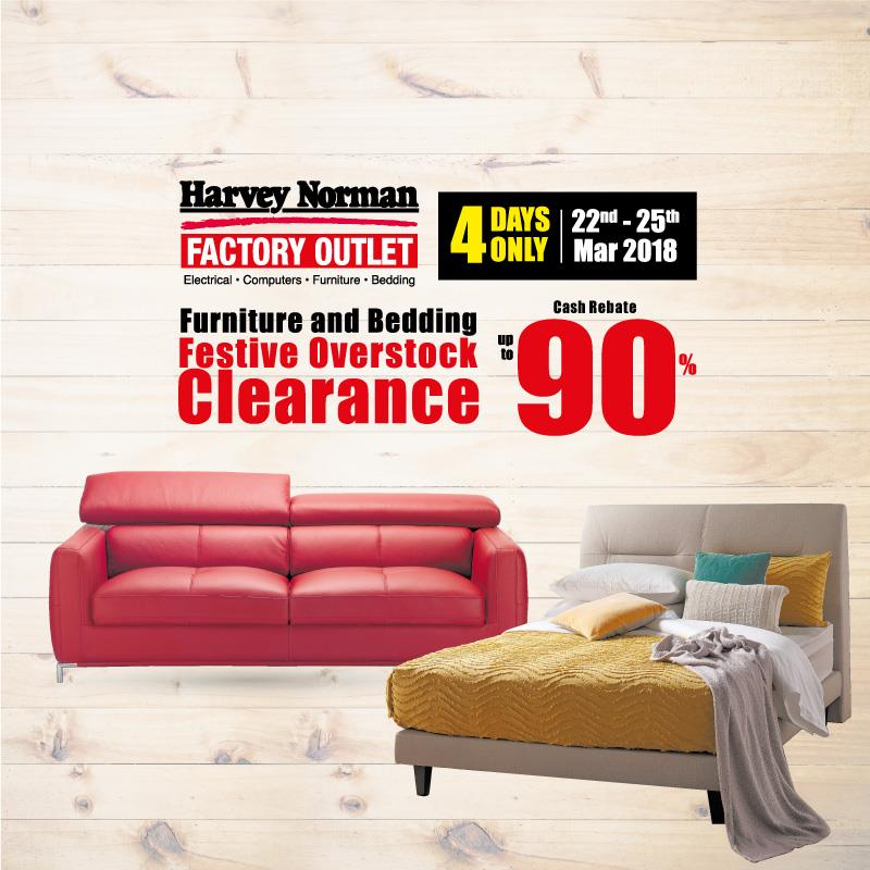 Furniture U0026 Bedding Festive Overstock Clearance| Harvey Norman Citta Mall