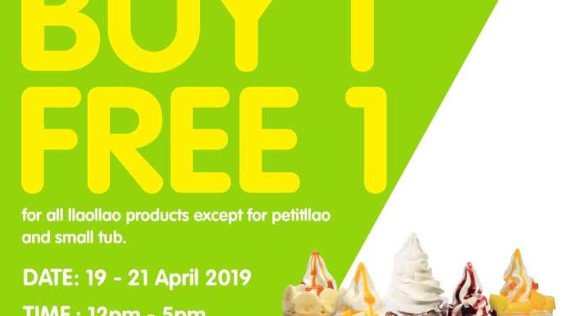 Buy 1 FREE 1    llaollao@Sunway Carnival Mall