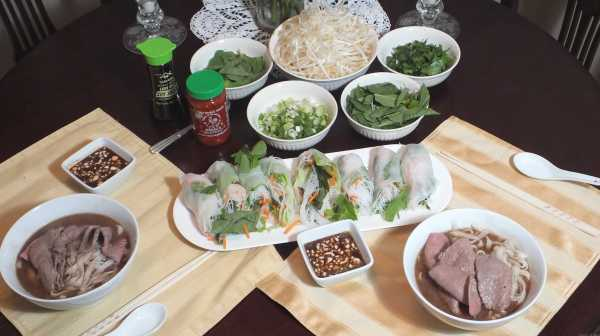 Pho and Spring Rolls 166.2
