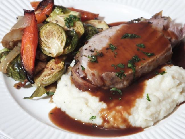 Pork Roast with Moch Mashed Potato