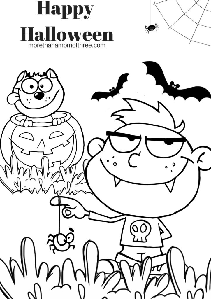 Free Halloween Coloring Pages Printable