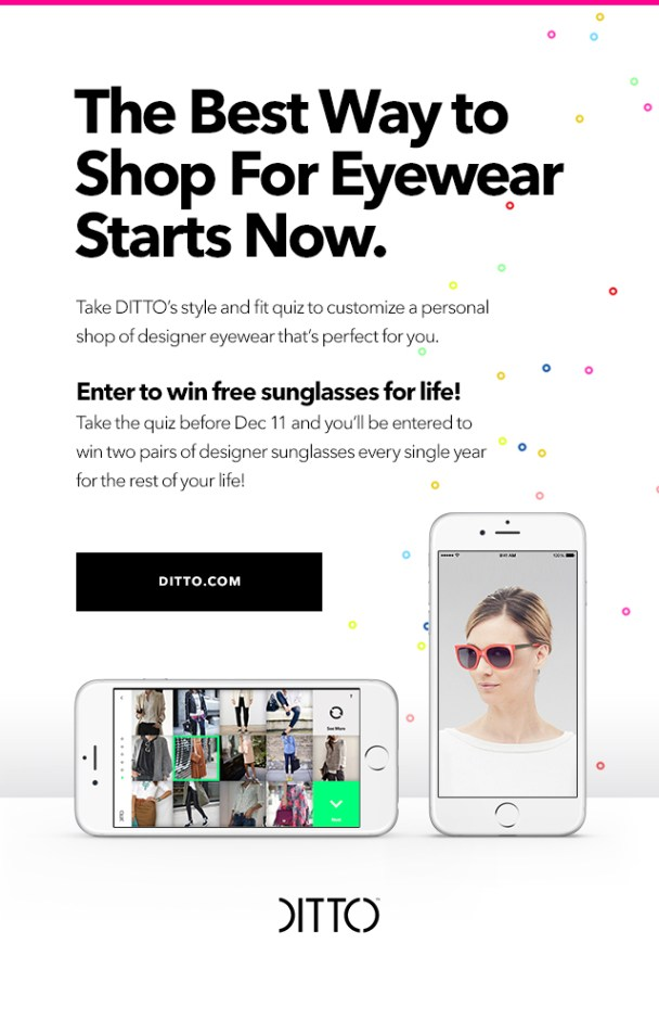 Personalized Eyewear Virtually By Ditto.com