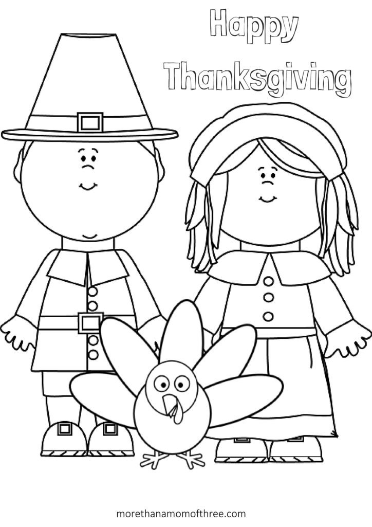 Free Thanksgiving Coloring Pages Printables For Kids More Than A