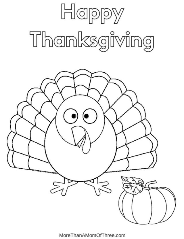 Free Thanksgiving Coloring Pages Printables For Kids - More Than A