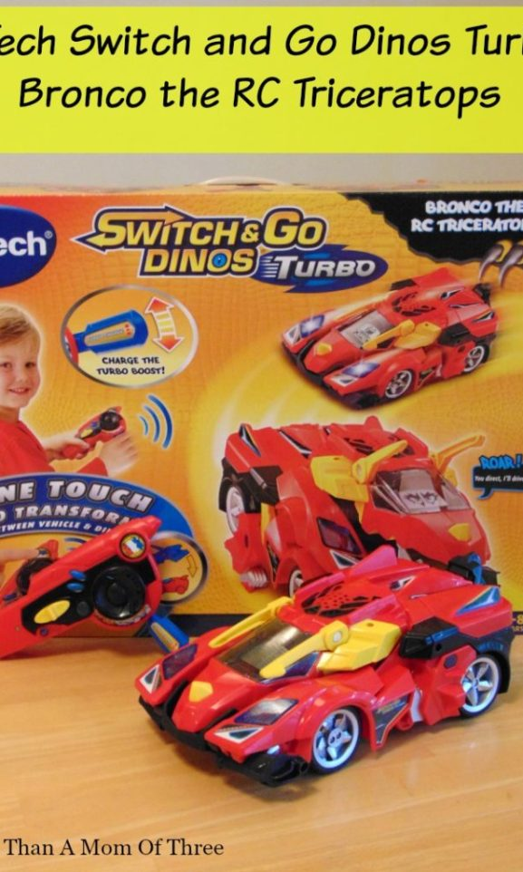 VTech Switch and Go Dinos Turbo Bronco the RC Triceratops