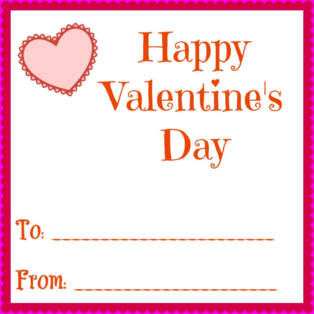 This is a picture of Clean Print Free Valentine Cards