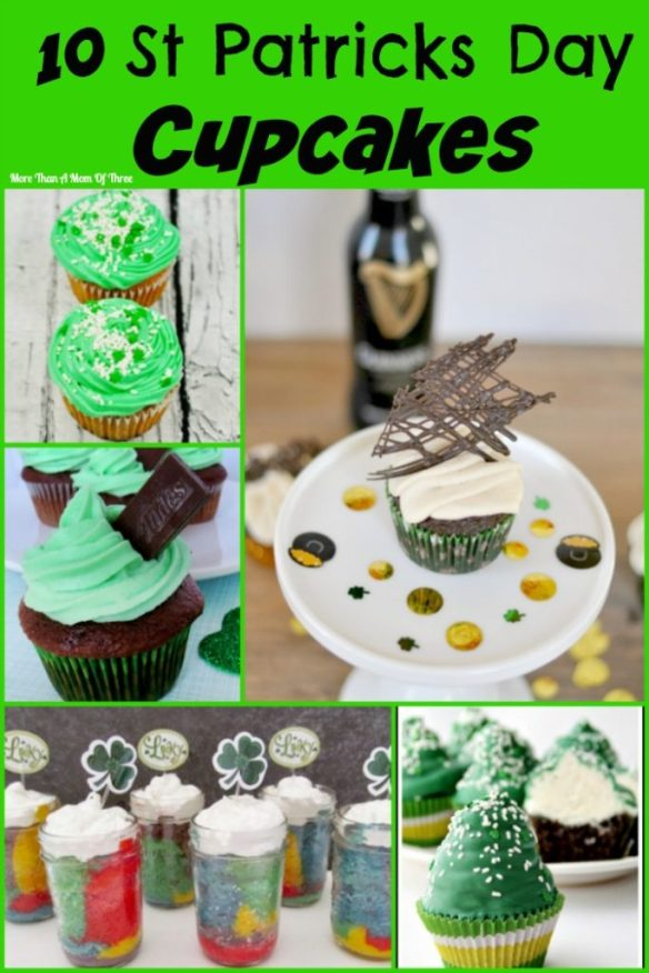 10 st patricks day cupcakes