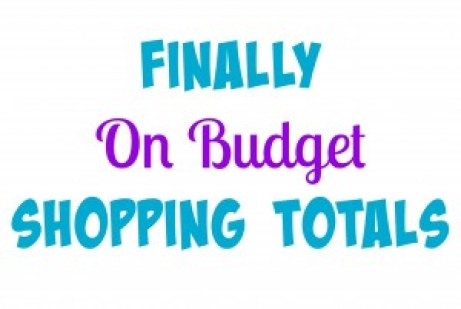 Finally On Budget Shopping Totals