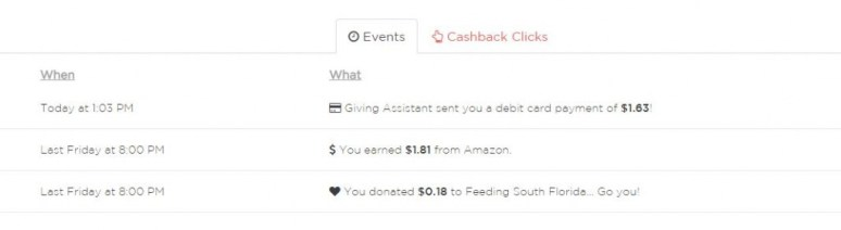giving assistant amazon cash back