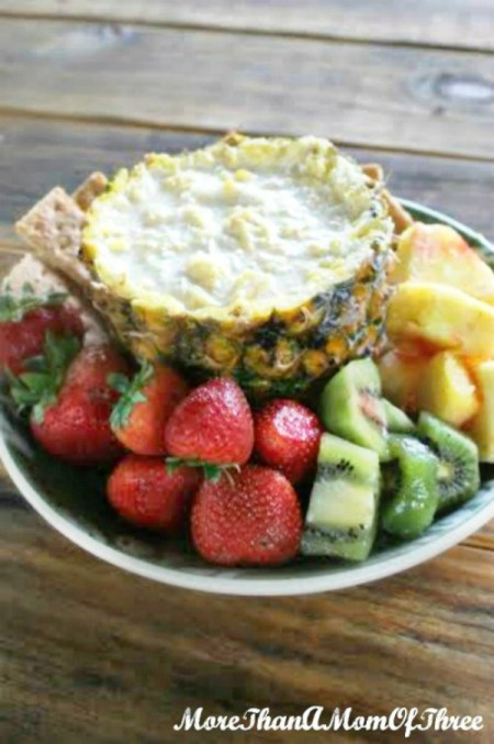summer pineapple fruit dip