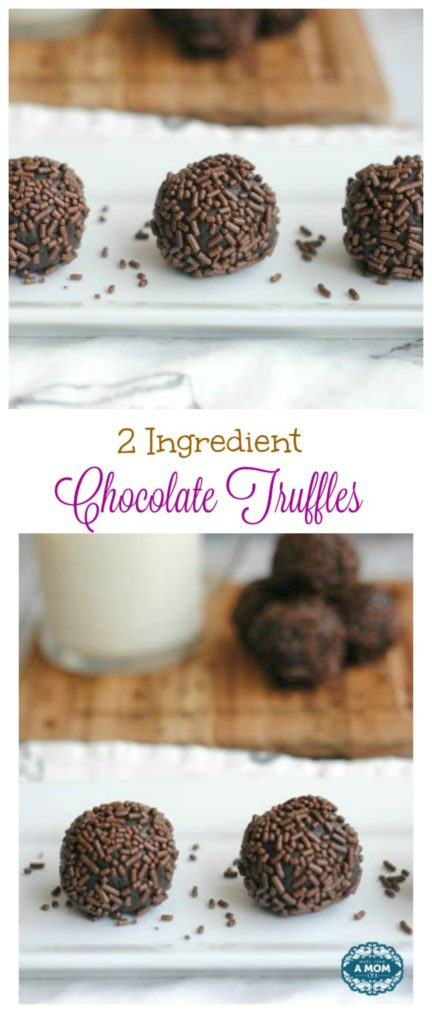 2 ingredient chocolate truffle recipe