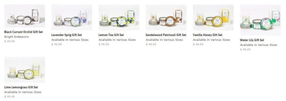 Bright Endeavors Candle Gift Sets