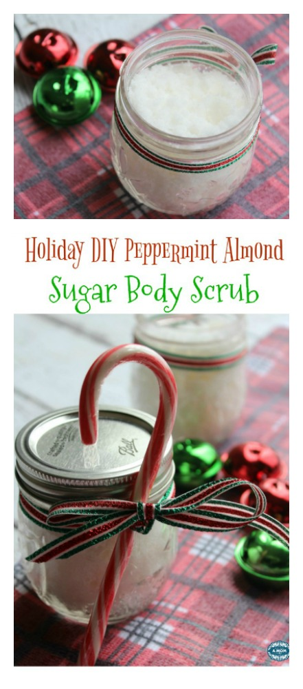 Holiday DIY Peppermint Almond Sugar Body Scrub