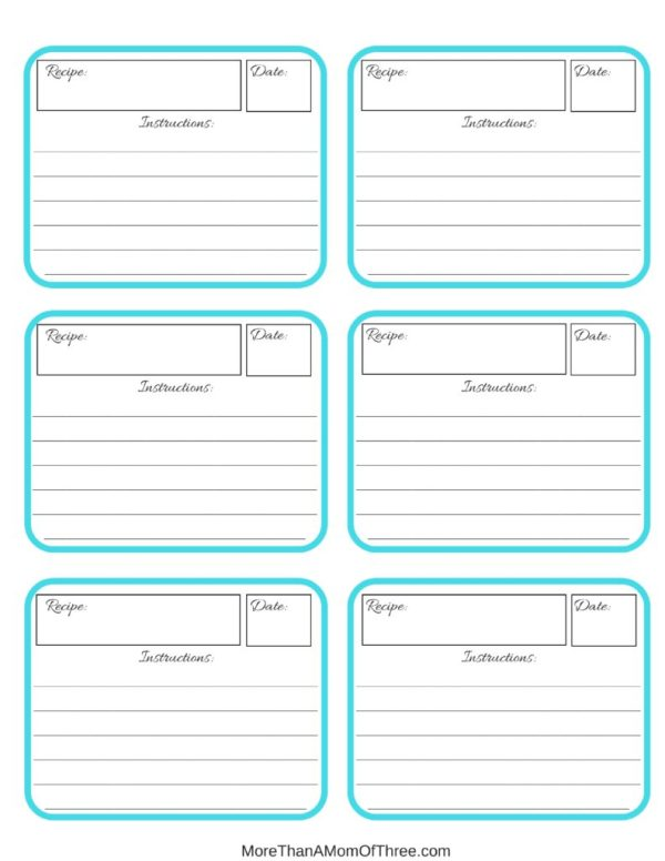 Recipe label printable