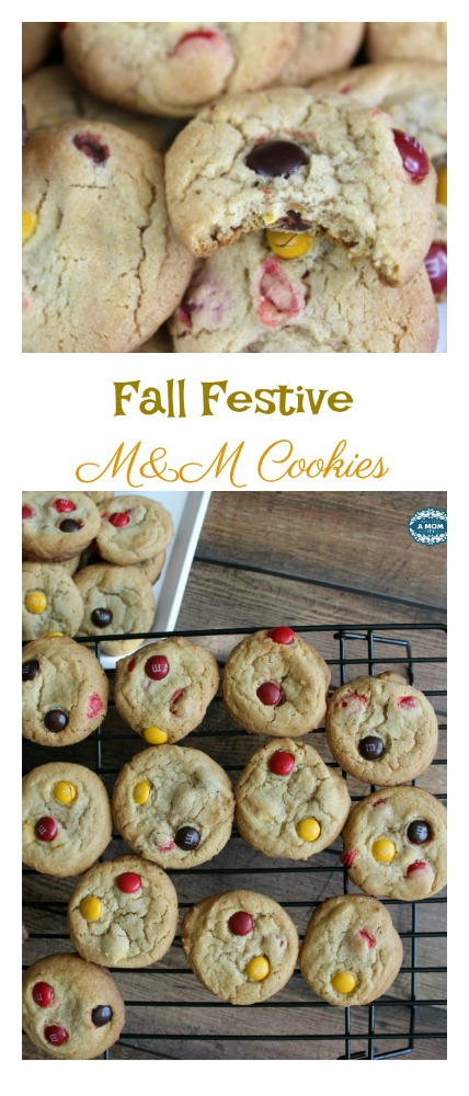 The Best Festive Fall Holiday Party M&M Cookies