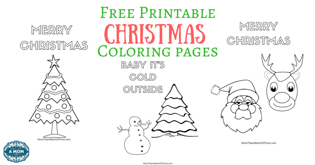 Free Printable Christmas Coloring Pages FB