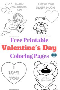 Free Valentines Day Coloring Pages Printables For Kids