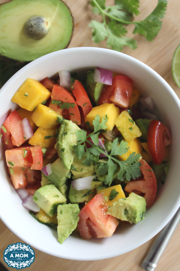 Refreshing Mango Avocado Salad is great for summer BBQ's and side to serve to your guests.