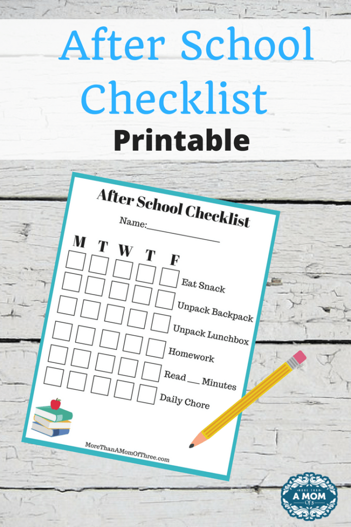 Help your kids develop an after school routine that works with this after school checklist printable for kids