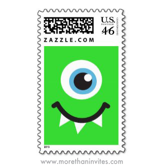 cute monster party postage