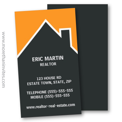 Modern Orange And Gray Architect Or Real Estate Agent