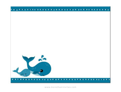 Mommy And Baby Whales Cute Blank Notecard Stationery