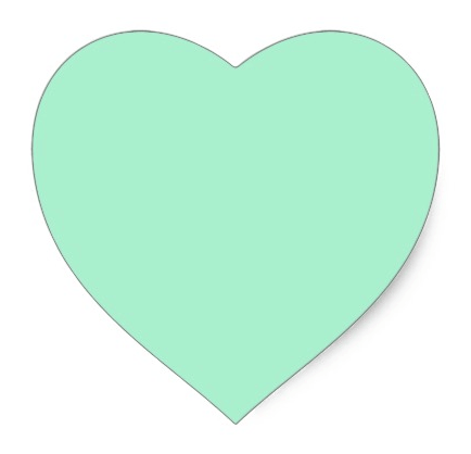 Mint Green Heart Stickers More Than Invites