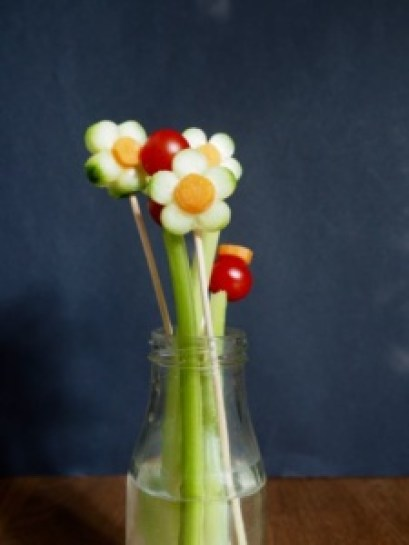 Vegetable flowers from More Than Just Carrots