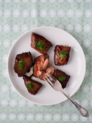 Marinated salmon from More Than Just Carrots