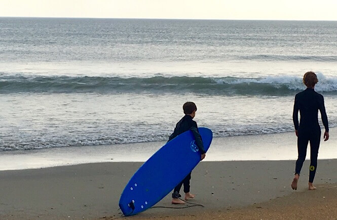 Surfing in Corolla NC