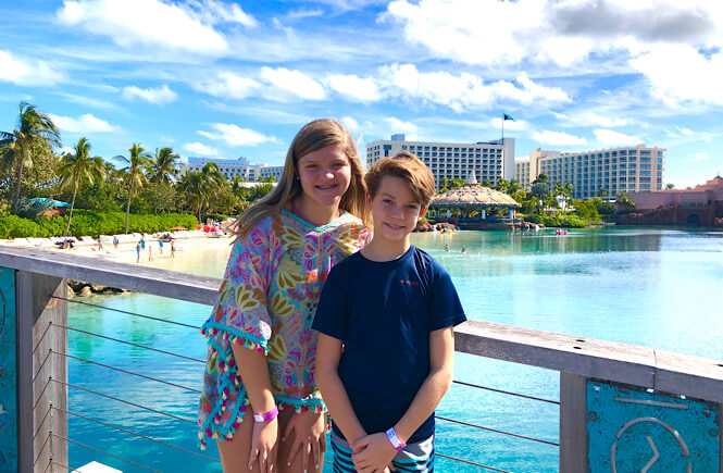 Bahamas Family Vacation: Top 10 Tips for Visiting Atlantis with Kids as featured by top US family travel blog More than Main Street.