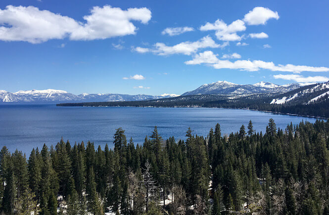 Top 15 unique spring break vacations in the USA for families featured by US family travel blog, More Than Main Street: Lake Tahoe