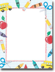 Imprintable Blank Stock School Stuff Letterhead By