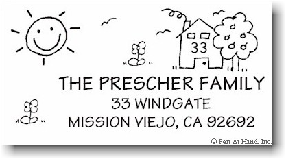 stick figure address stampers