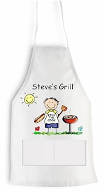 Pen At Hand Stick Figures Apron BBQ More Than Paper