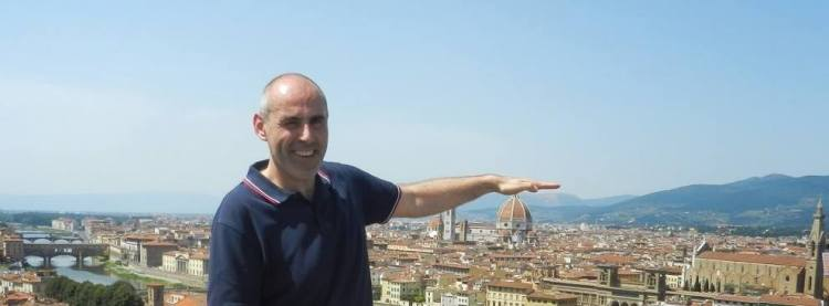 La Coupole de Brunelleschi (Duomo Santa Maria Del Fiore à Firenze) sous la main de mon copan d'avant Xavier Capodano