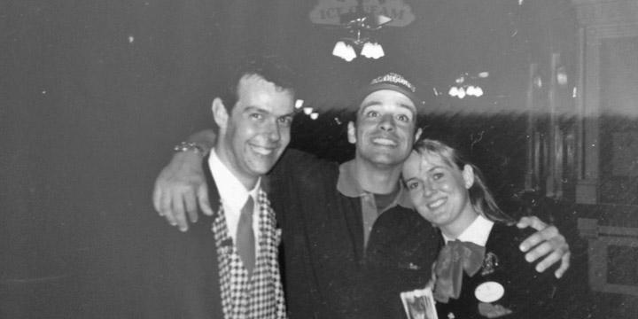 EuroDisney - 1993 - Eros Ramazzotti avec Danielle et Denis
