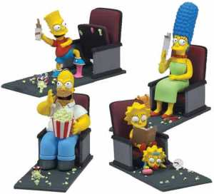 The Simpsons movie toys