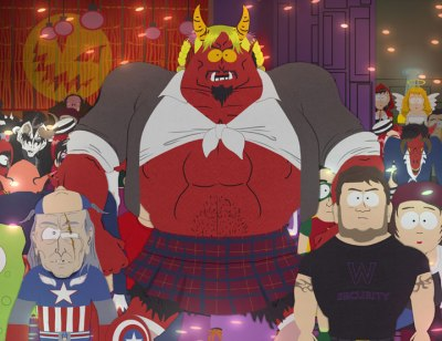 Satan in a school girl Halloween costume, South Park 1011