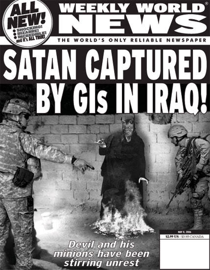 Satan captured by US soldiers in Iraq