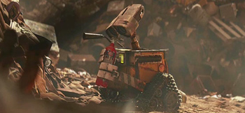 Wall-E and the trash which is Earth