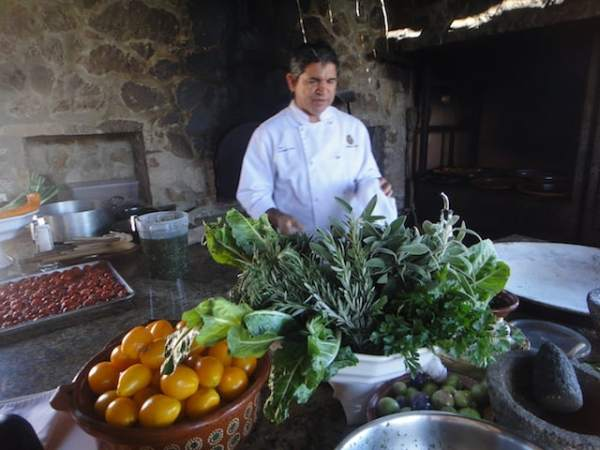 Chef Silva at his Outdoor Kitchen at Los Tamarindos Farm