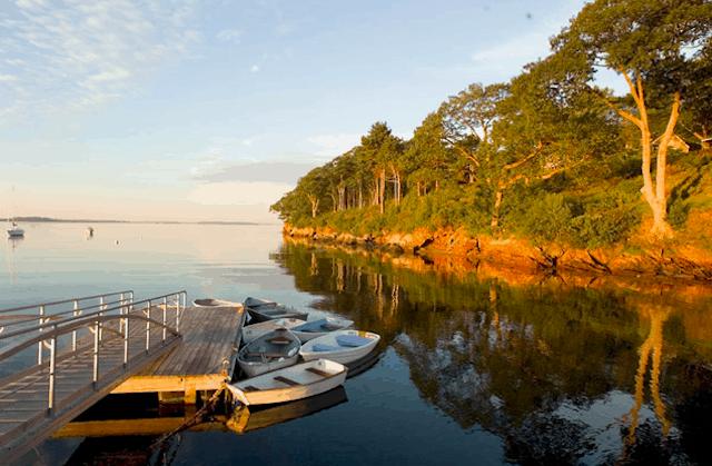 A view from the Chebeague Island Inn