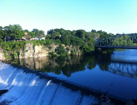 A view of Eposus Falls from our room at the Diamond Mills Hotel